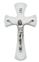 "(79-66) 7"" WHITE/SILVER CRUCIFIX/BLUE"