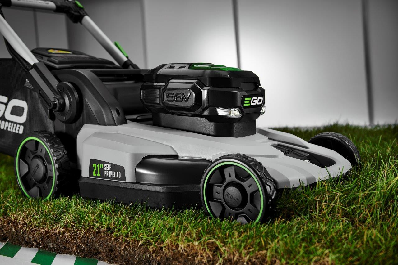 EGO POWER+ 52CM SELF PROPELLED LAWN MOWER IN ACTION