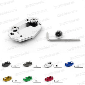 Motorcycle kickstand foot for 2013 2014 2015 Kawasaki Z800, manufactured from aluminum and stainless steel and fit original kickstand perfectly.