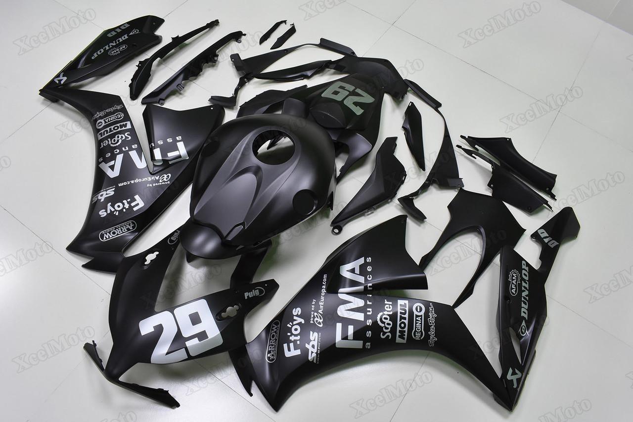 2012 To 2016 Honda Cbr1000rr Fireblade Matte Black Fairings Xcelmoto