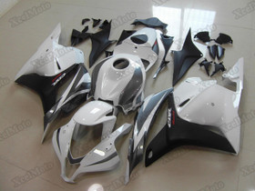 2009 2010 2011 2012 Honda CBR600RR white/black fairings and body kits, Honda CBR600RR OEM replacement fairings and bodywork.