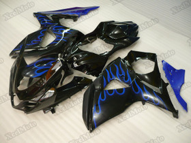2009 to 2015 2016 Suzuki GSXR1000 blue flame fairings and body kits, Suzuki GSXR1000 OEM replacement fairings and bodywork.
