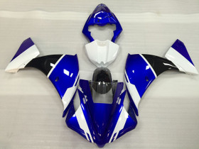 2012 2013 2014 Yamaha R1 blue, white and black fairings