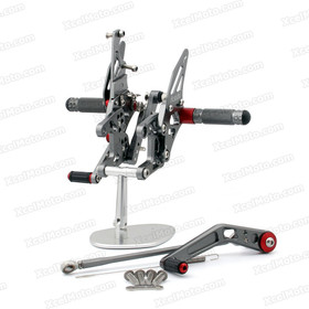 Motorcycle rear sets assembly for Honda CBR1000RR 2008 2009 2010 2011 2012 2013 are design to improve the ground clearance, crash worthiness and overall good looks of your bike