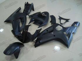 Kawasaki Ninja ZX6R matte black fairings and body kits, 2003 2004 Kawasaki Ninja ZX6R OEM replacement fairings and bodywork.