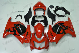 Kawasaki Ninja 250R EX250 red fairings and body kits, 2008 to 2012 Kawasaki Ninja 250R EX250 OEM replacement fairings and bodywork.