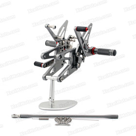 Motorcycle rear sets assembly for 2006 2007 2008 2009 Yamaha YZF-R6S are design to improve the ground clearance, crash worthiness and overall good looks of your bike.