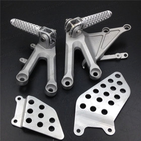 2004 2005 2006 2007 Honda CBR1000RR rider/front foot pegs and mount bracket assembly. Honda CBR600RR foot rest and holder assembly.