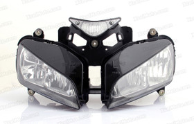 The motorcycle headlight/headlamp assembly kit for   2004 2005 2006 2007 Honda CBR1000RR is a direct O.E.M. replacement and made to O.E.M. specification to fit and look just like the original.