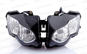 The motorcycle headlight/headlamp assembly kit for 2008 2009 2010 2011 Honda CBR1000RR is a direct O.E.M. replacement and made to O.E.M. specification to fit and look just like the original.