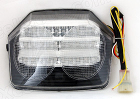 The LED turn signals integrated taillights assembly was compatible with 2003 2004 2005 2006 2007 2008 Honda CB400 VTEC, this taillights combines tail lights and turn signals into one unit and are more functional.