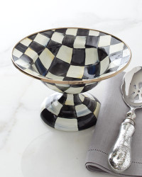 MacKenzie-Childs Courtly Check Small Compote