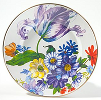 MacKenzie-Childs Flower Market White Dinner Plate