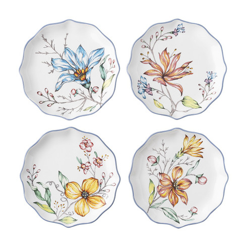Floretta Tidbit Plates - Set of 4