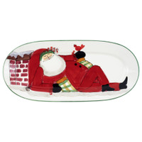 Nelson - Vietri Old St. Nick Small Oval Platter