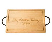 Nelson - Maple Leaf Rectangular Cutting Board with Handles