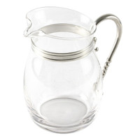 Nelson - Vagabond House Classic Pewter and Glass Pitcher