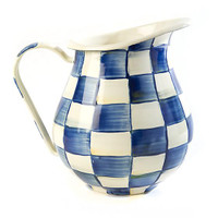 Nelson - MacKenzie-Childs Royal Check Pitcher