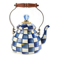 Nelson - MacKenzie-Childs Royal Check 2 Quart Tea Kettle