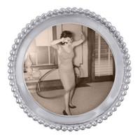 Nelson - Beaded Round Frame