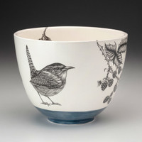 Calimlim - Laura Zindel Blue Carolina Wren Medium Bowl