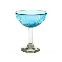 Dumas - Rose Ann Hall Condessa Turquoise Margarita Glass