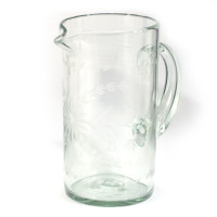 Dumas - Rose Ann Hall Condessa Clear Engraved Pitcher