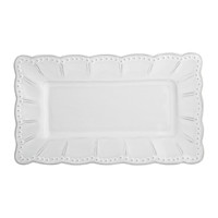 Sarah Bertelson - Arte Italica Bella Bianca Small Rectangle Platter
