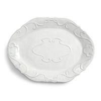 Sarah Bertelson - Arte Italica Bella Bianca Ribbon Oval Platter