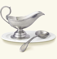 Elizabeth Whitcomb - Match Pewter Gravy Boat with Spoon