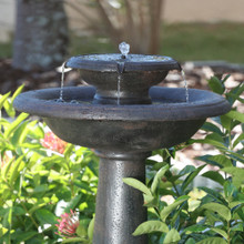 Chatsworth Oiled Bronze Solar 2-Tier Fountain