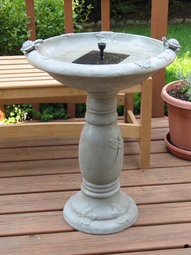 Country Gardens Solar Birdbath Fountain
