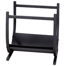 Wrought Iron Hearth Log Holder - Black