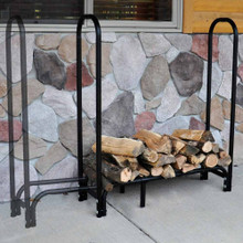 "Expandable 42"" to 60"" Tubular Firewood Rack"