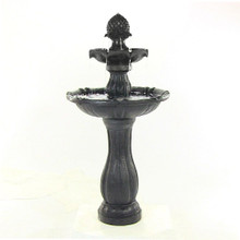 "46"" 2-Tier Pineapple Solar On Demand Fountain - Black"