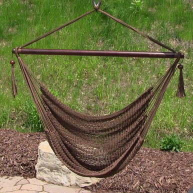Hanging Caribbean XL Hammock Chair - Mocha