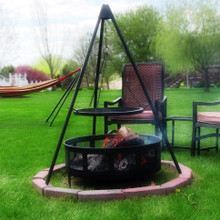 "Firepit Tripod Grill with 22"" Cooking Grate"