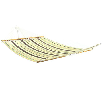 Brown/Tan Double Fabric Hammock w/ Spreader Bar