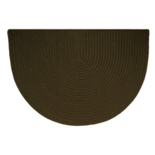 46x31 Half Round Braided Hearth Rug - Mink