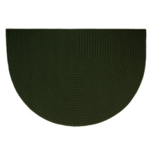 46x31 Half Round Braided Hearth Rug - Dark Green