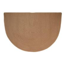 46x31 Half Round Braided Hearth Rug - Cashew
