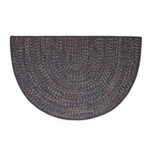 46x31 Half Round Tweed Braidmate Hearth Rug - Navy