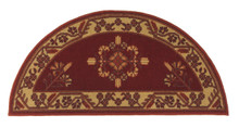 44x22 Half Round Fire Resistant Wool Hearth Rug - Vermillion Jardin