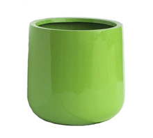 Ainslie Green Fiberglass Outdoor Planter
