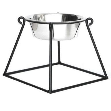 Pyramid Single-Bowl Raised Dog Feeder