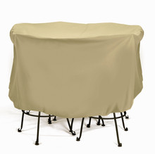 "Two Dogs Large Bistro Set Cover 74"" x 44"" - Khaki"