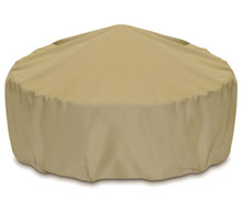"Two Dogs 48"" Fire Pit Cover - Khaki"