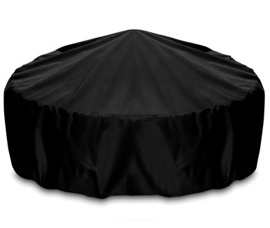 """Two Dogs 48"""" Fire Pit Cover - Black"""