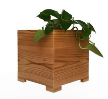 Modern American Cedar Outdoor Planter 10x10x10