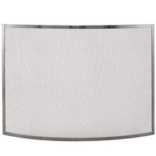 "41"" Bowed Pewter Fireplace Screen"